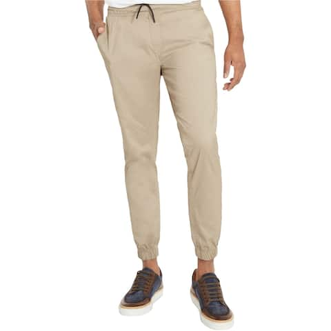Kenneth Cole Mens Soho Casual Jogger Pants, beige, X-Large