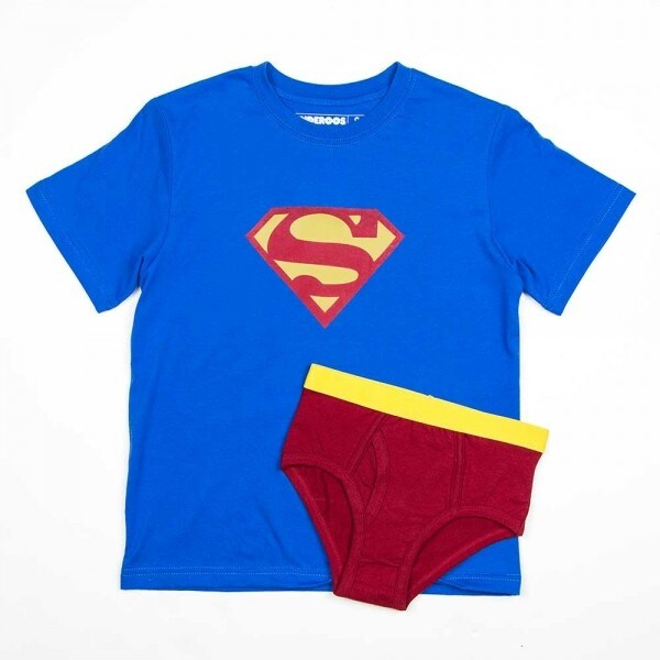 DC Comics Superman Boy's Shirt/Underwear Underoos Set - Blue