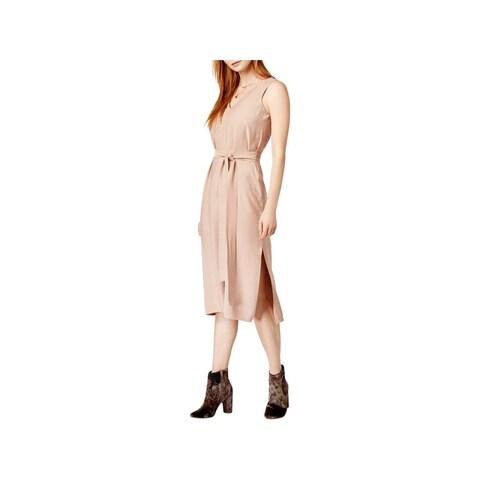 JOA Womens Casual Dress Double-V Side Slit