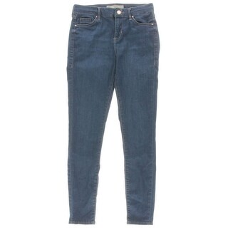TopShop Moto Womens Leigh Mid-Rise Medium Wash Ankle Jeans - 25