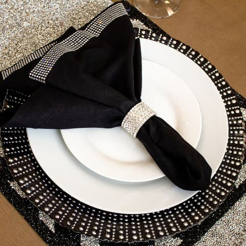 Sparkles Home Glass Charger Plate
