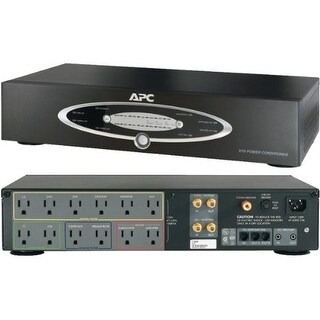 APC APNH10BLKB APC H10BLK 12-Outlet H-Type Rack-Mountable Power Conditioner with Coaxial Protection -by-APC
