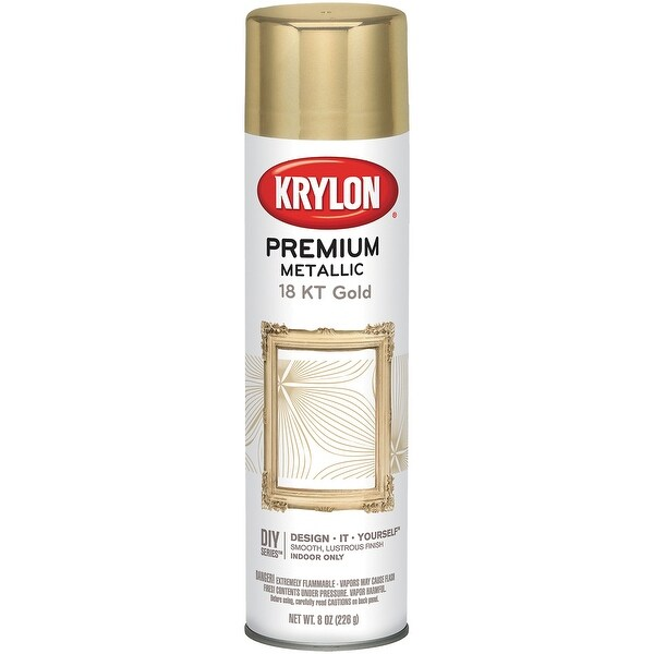 Metallic Spray Paint 8oz-18 Karat Gold