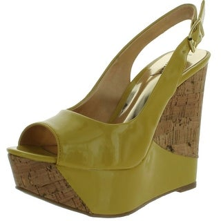 Luichiny Womens Zes Ty Wedge Sandals - Yellow - 6 b(m) us