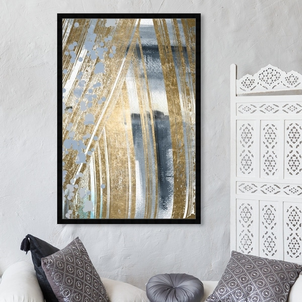 Oliver Gal 'Chosen One' Abstract Wall Art Framed Print Paint - Gray, Gold. Opens flyout.