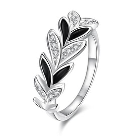 Multi Onyx Covering Floral Orchid Petite Ring
