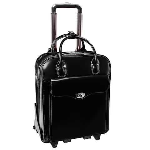"McKleinUSA MELROSE 15"" Leather Vertical Wheeled Ladies' Laptop Briefcase"