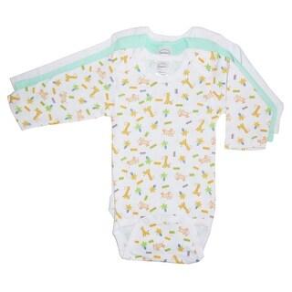 Bambini Boys Longsleeve Printed Variety Pack (White/Blue, Newborn)