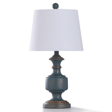 StyleCraft Malta 1-light Table Lamp with White Linen