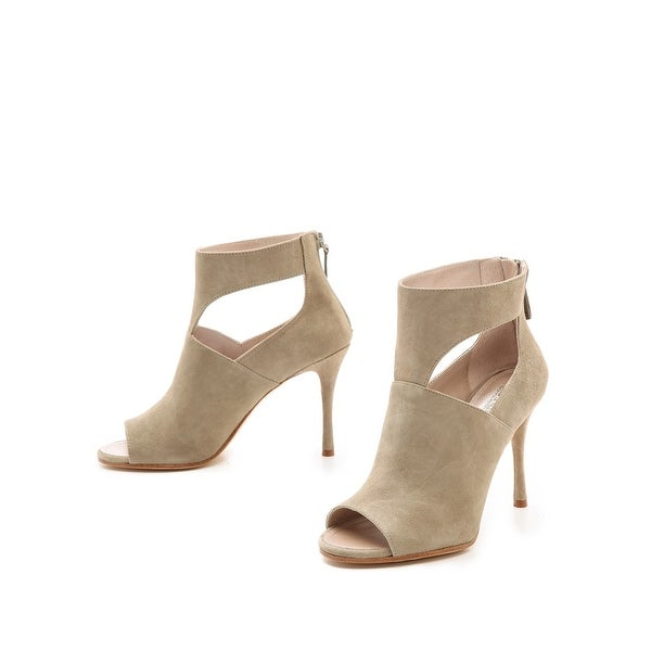 DKNY NEW Beige Women's Shoes Size 10M Lucia Open Toe Suede Heel
