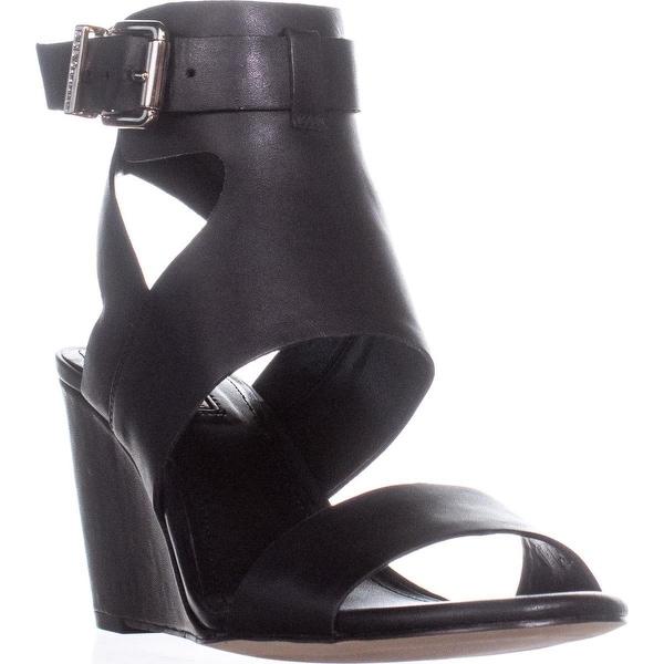 16d4f1212b Shop BCBGeneration Mandee Wedge Sandals, Black - 8.5 us - Free ...
