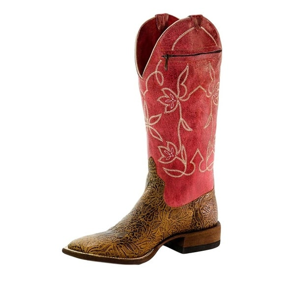 Macie Bean Western Boots Womens Love It Leave It Zip Pocket Tan