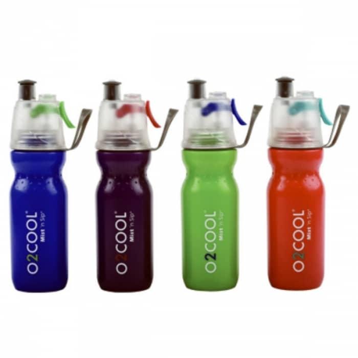 Blue O2 Cool Mist N Sip Hydration Water Bottle 20oz