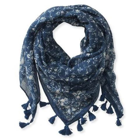 Aeropostale Womens Filligree Printed Scarf - Classic (57 To 59 in.)