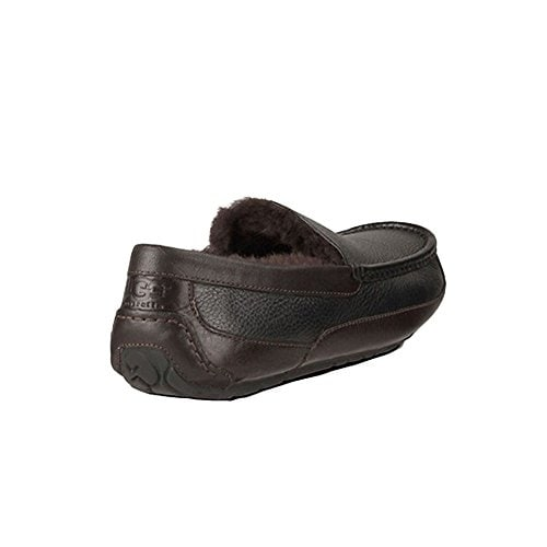 b8e56dd14132 Shop UGG Australia Men s Leather Ascot Slipper (Black China Tea