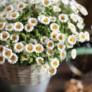 """RusticReach Artificial Eco PE Small Daisy Stem in White 15"""" Tall"""