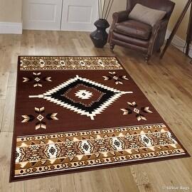 "Allstar Dark Brown Woven High Quality Rug. Traditional. Persian. Flower. Western. Design Area Rug (5' 2"" x 7' 1"")"