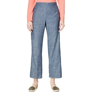 Eileen Fisher Womens Ankle Pants Chambray Textured - XS