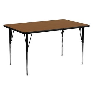 Delacora FF-XU-A2460-REC-H-A-GG 60 Inch Wide Steel Framed Wood Top Adjustable Ac