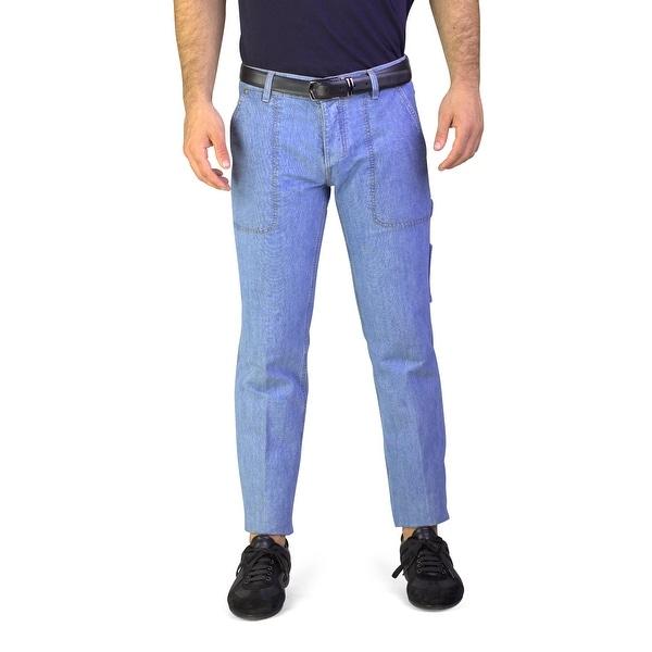d53be79974 Shop Yves Saint Laurent Men's Utility Bootcut Jeans Light Blue ...