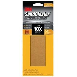 Shop 3M 11220-G-6 SandBlaster Sandpaper with No Slip Grip