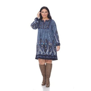 PS861-02 3XL Plus Size Apolline Embroidered Sweater Dress 02,