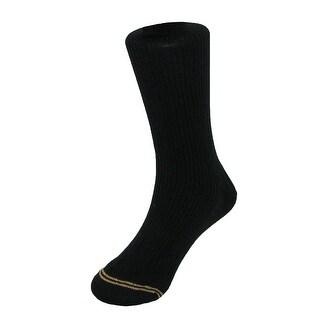 Gold Toe Boys' Uniform Socks Microfiber (Pack of 3) - Black