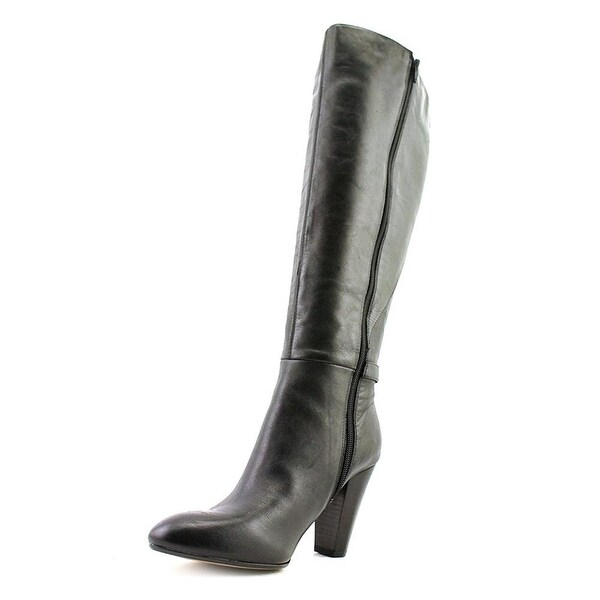 Marc Fisher Womens Shayna (Wide Calf) Leather Closed Toe Knee High Fashion Bo...