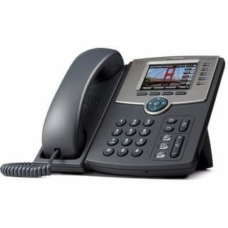 Cisco SPA525G2 5-Line IP Phone with Color Display https://ak1.ostkcdn.com/images/products/is/images/direct/6007a7a23bc8e5538766714970cc700571991851/Cisco-SPA525G2-5-Line-IP-Phone-with-Color-Display.jpg?impolicy=medium