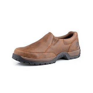 Roper Western Shoes Mens Leather Slip On Brown