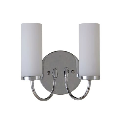 "Jeremiah Lighting 40662 Cascade 2 Light Wall Sconce - 8"" Tall"