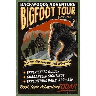 Bigfoot Tours - Vintage Sign - LP Artwork (Poker Playing Cards Deck)