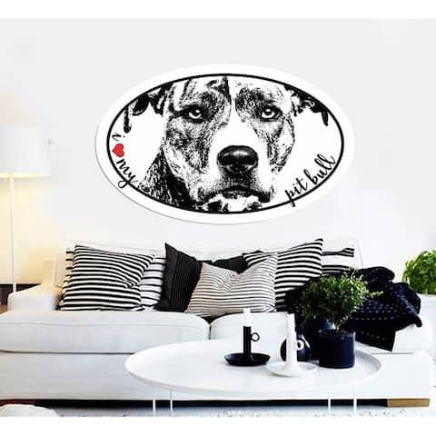 Pitbull Sticker, Pitbull Decal, Love my Pitbull Wall Decor