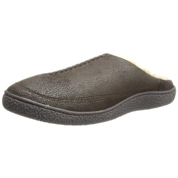 Isotoner Mens Hoodback Scuff Slippers Microsuede Indoor/Outdoor - L