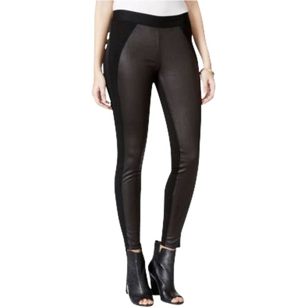 Jessica Simpson Womens Juniors Winona Leggings Faux-Suede-Front Stretch - M