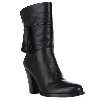 Marc Fisher Mara Mid-Calf Fashion Boots - Black Leather