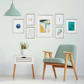 Link to 7 Piece Gallery Wall Frame Set with Decorative Art & Hanging Template Similar Items in Decorative Accessories