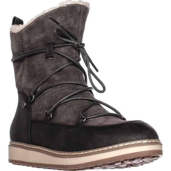 White Mountain Topaz Fleece Lined Snow Boots, Dark Charcoal