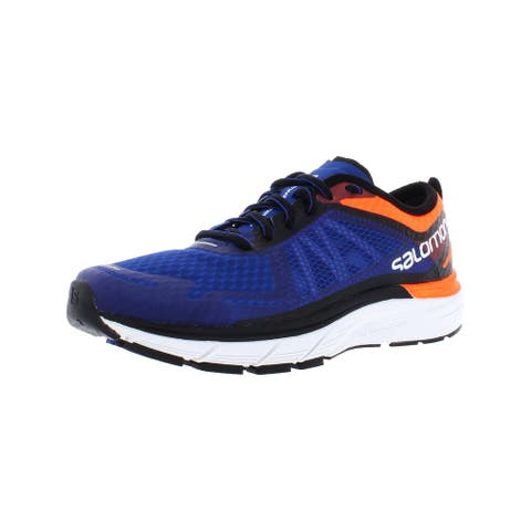 Salomon Mens Sonic RA Max Running Shoes Trainers Ortholite - Shocking Orange/Surf The Web/White