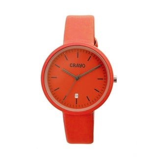Crayo Easy Unisex Quartz Watch, Genuine Leather Band