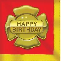 16 Pack Luncheon Napkins Firefighter - Multi