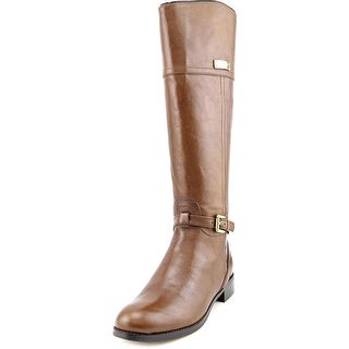 Coach Micha Round Toe Leather Knee High Boot