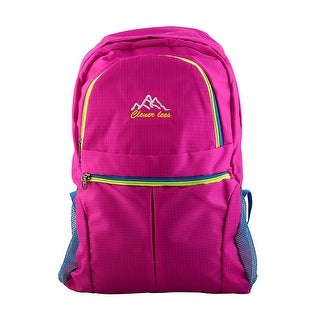 Unique Bargains Clever Bees Authorized Mountaineering Pack Travelling Hiking Backpack Fuchsia