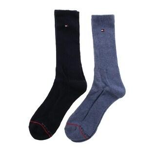 Tommy Hilfiger Mens 2PK Cushioned Crew Socks - 7-12