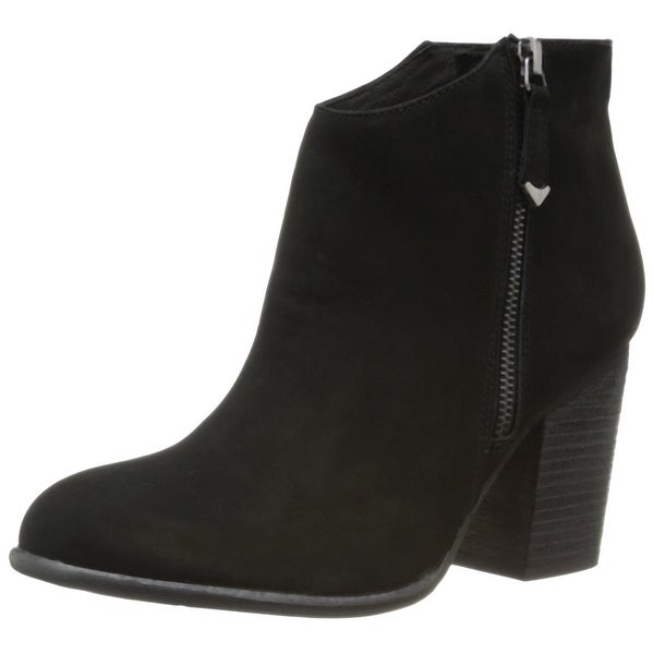 Matisse Black Riley Shoes Size 9.5M Zip-Up Ankle Suede Boots