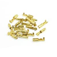 Unique Bargains 10 Pairs Bare Brass Male Female Crimp Terminal 3.5mm Wire Connector