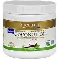 Spectrum Essentials Organic Coconut Oil - Unrefined - 15 oz - 4 Pack
