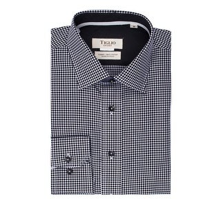 Black Polka Dot with White Modern Fit Sport Shirt by Tiglio Sport