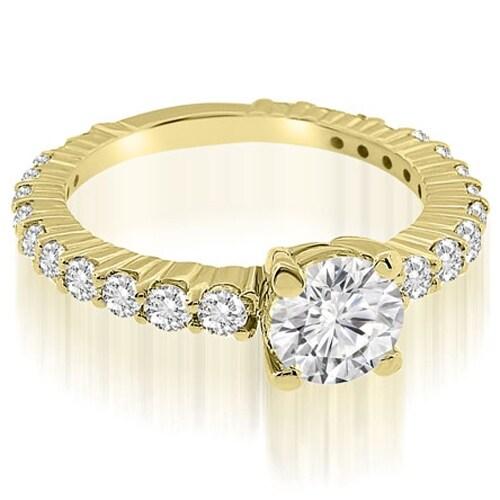 1.15 cttw. 14K Yellow Gold Round Cut Diamond Engagement Ring