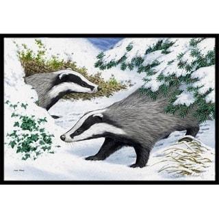 Carolines Treasures ASA2182MAT Badgers in the Snow Indoor or Outdoor Mat 18 x 27